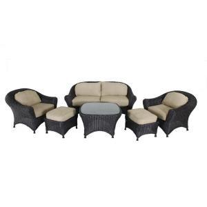 Martha Stewart Living Lake Adela Oatmeal 6-Piece Seating ... on Martha Stewart 6 Piece Patio Set id=52194
