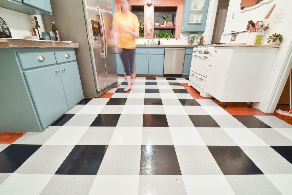 A Diy Kitchen Transformation Using Vinyl Floor Tiles A Video Tutorial The Gold Hive In 2020 Vinyl Flooring Kitchen Vinyl Flooring Kitchen Flooring