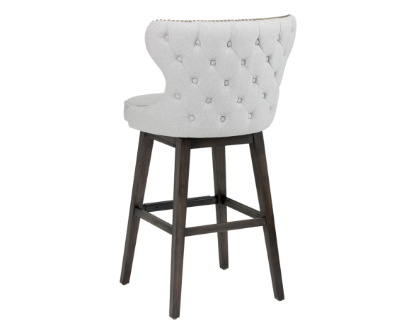 Celia Contemporary White Faux Leather Bar Stool with Curved Back Set of 2