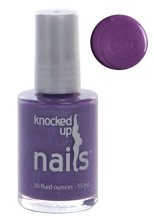 Mum In Plum Is A Gorgeous Purple Shimmer Nail Polish Hu By Knocked Up Nails Pregnancy Safe
