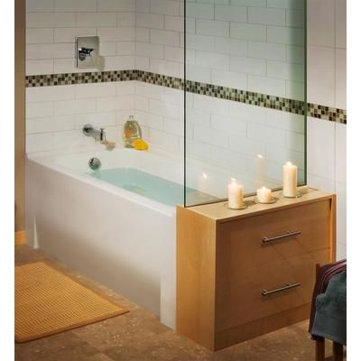 love the clean lines of this american standard minimalist left hand acrylic tub home depot canada - American Standard Tubs