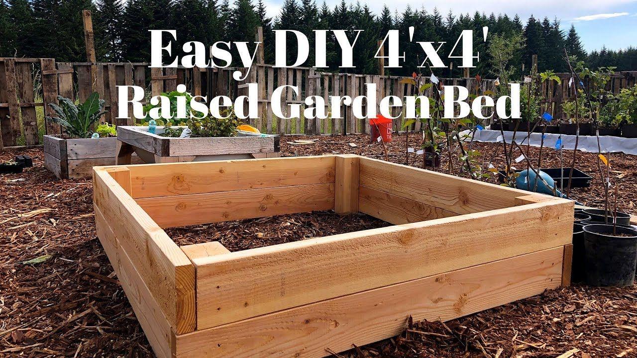 Easy Diy 4x4 Raised Garden Bed Raised Garden Beds 4x4 Raised