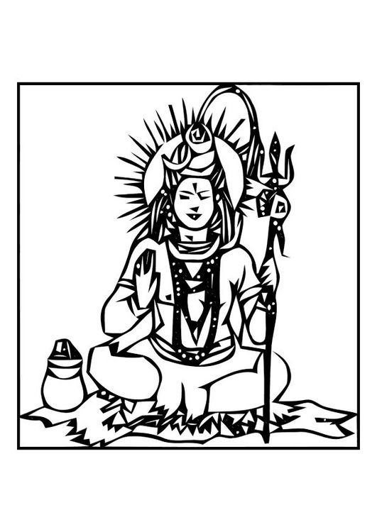 Shiva Fantasy Tattoos Adult Coloring Pages Coloring Pages