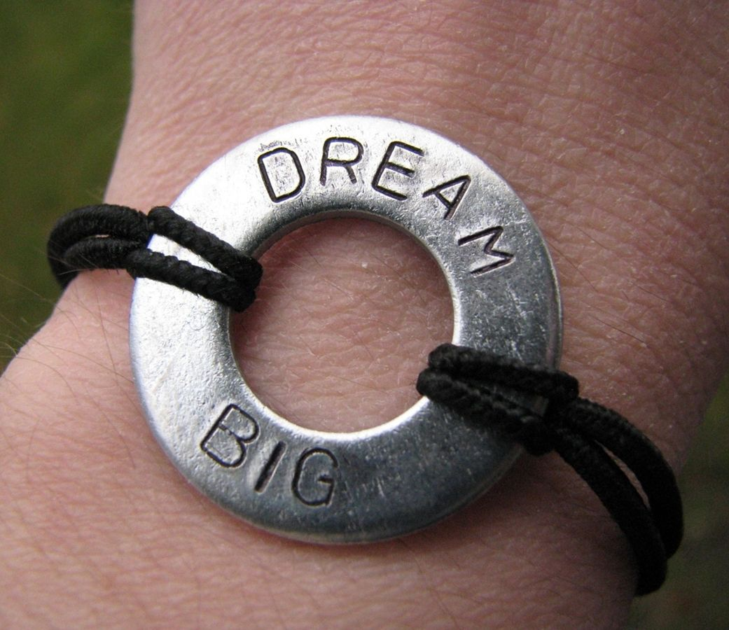 Hand Stamped Washer Bracelets