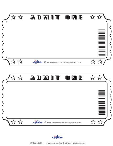 blank printable admit one invitations coolest free printables fam
