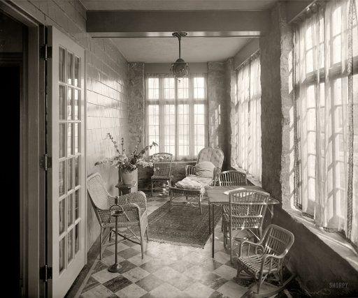 Sun Porch 1920 Sleeping Porch 1920s House 1920s Decor