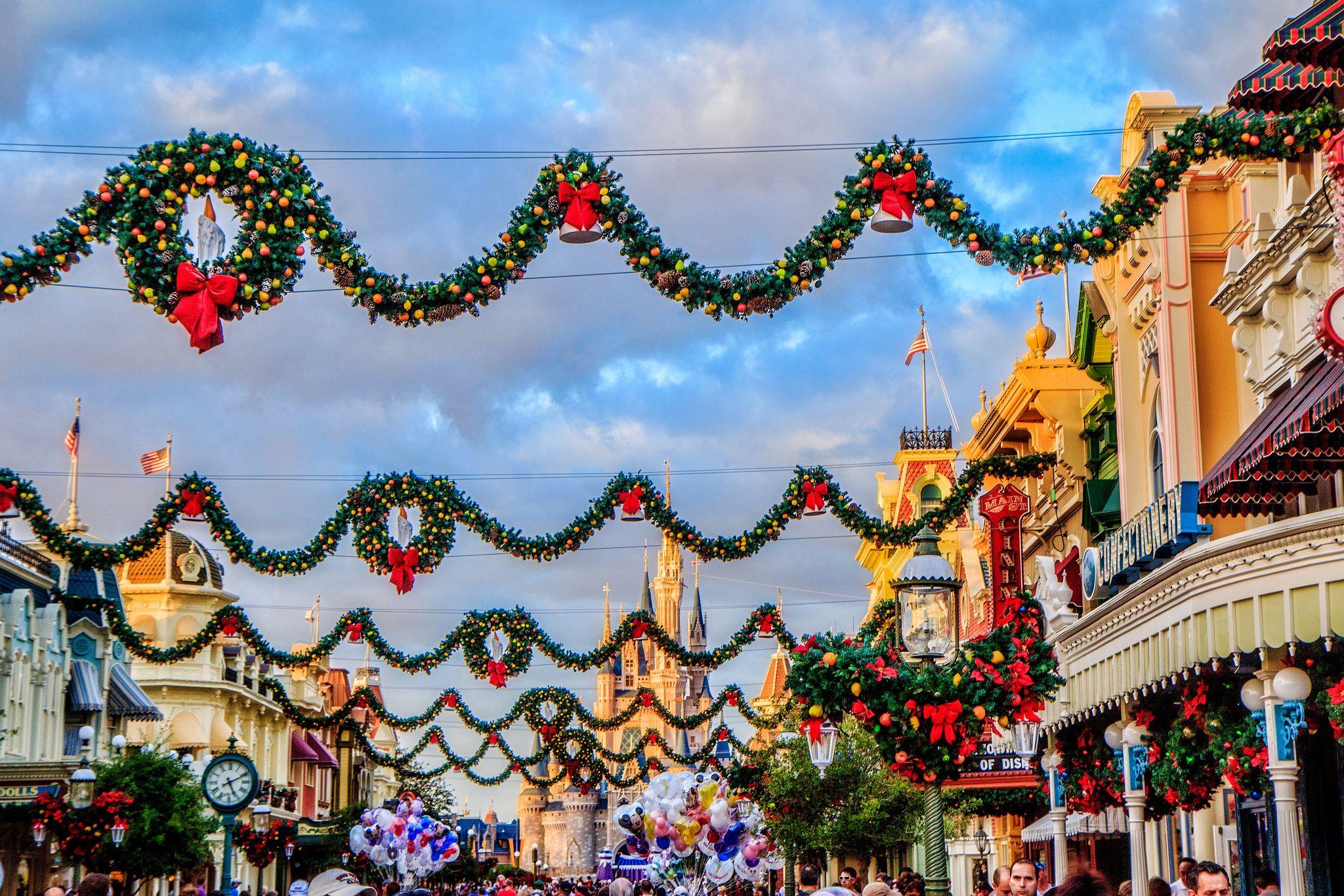 Main Street Christmas Disney world christmas