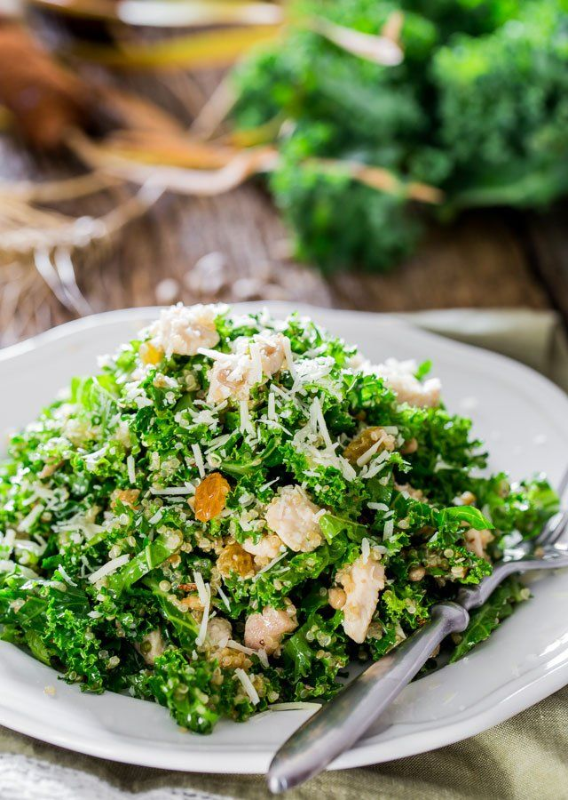 Kale and Quinoa Salad with Lemon Vinaigrette Kale
