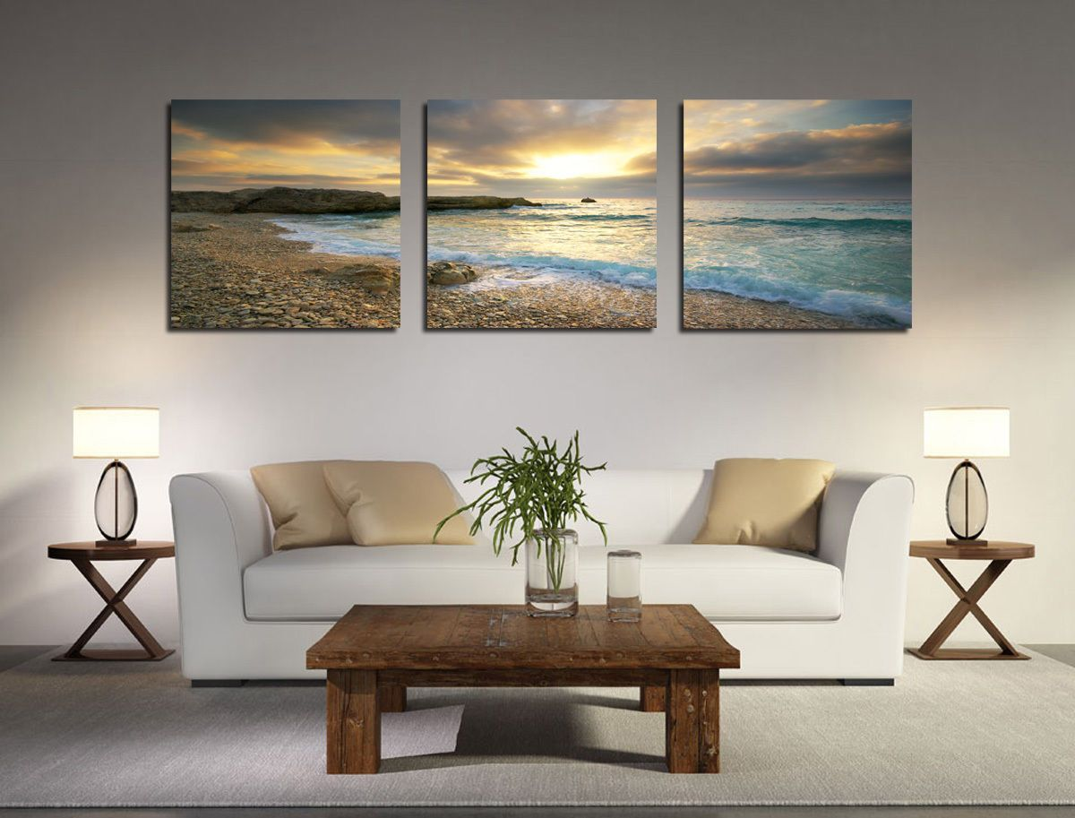 Delicieux Canvas Prints Large Wall Pictures Modern Kitchen Art Seascape Cheap Home  Decor