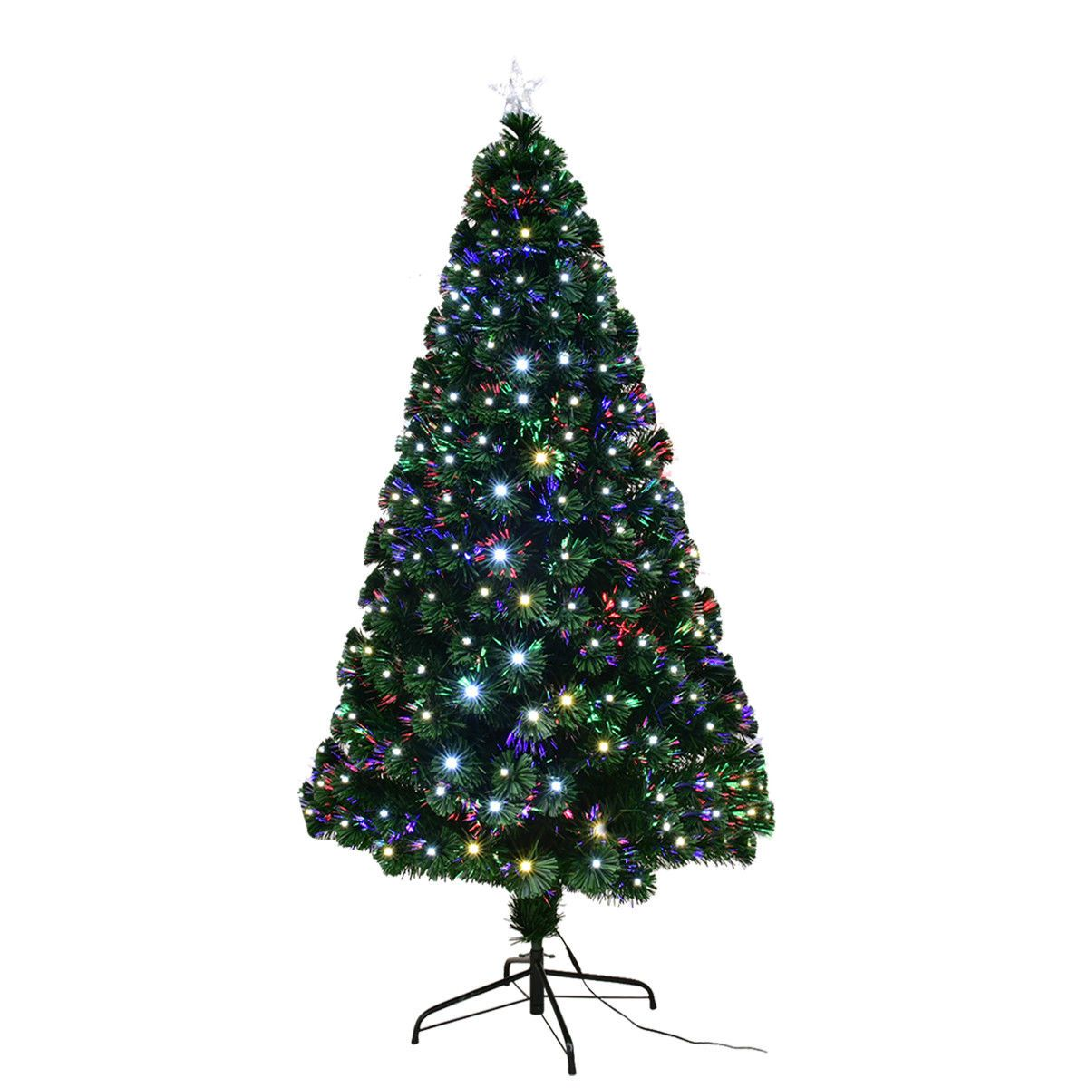 5'/6'/7' LED Fiber Optic Artificial Christmas Tree with