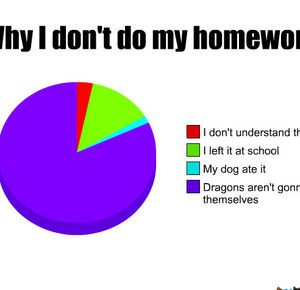 Why I Don T Do My Homework Memes Quotes Funny Charts Funny Pie Charts