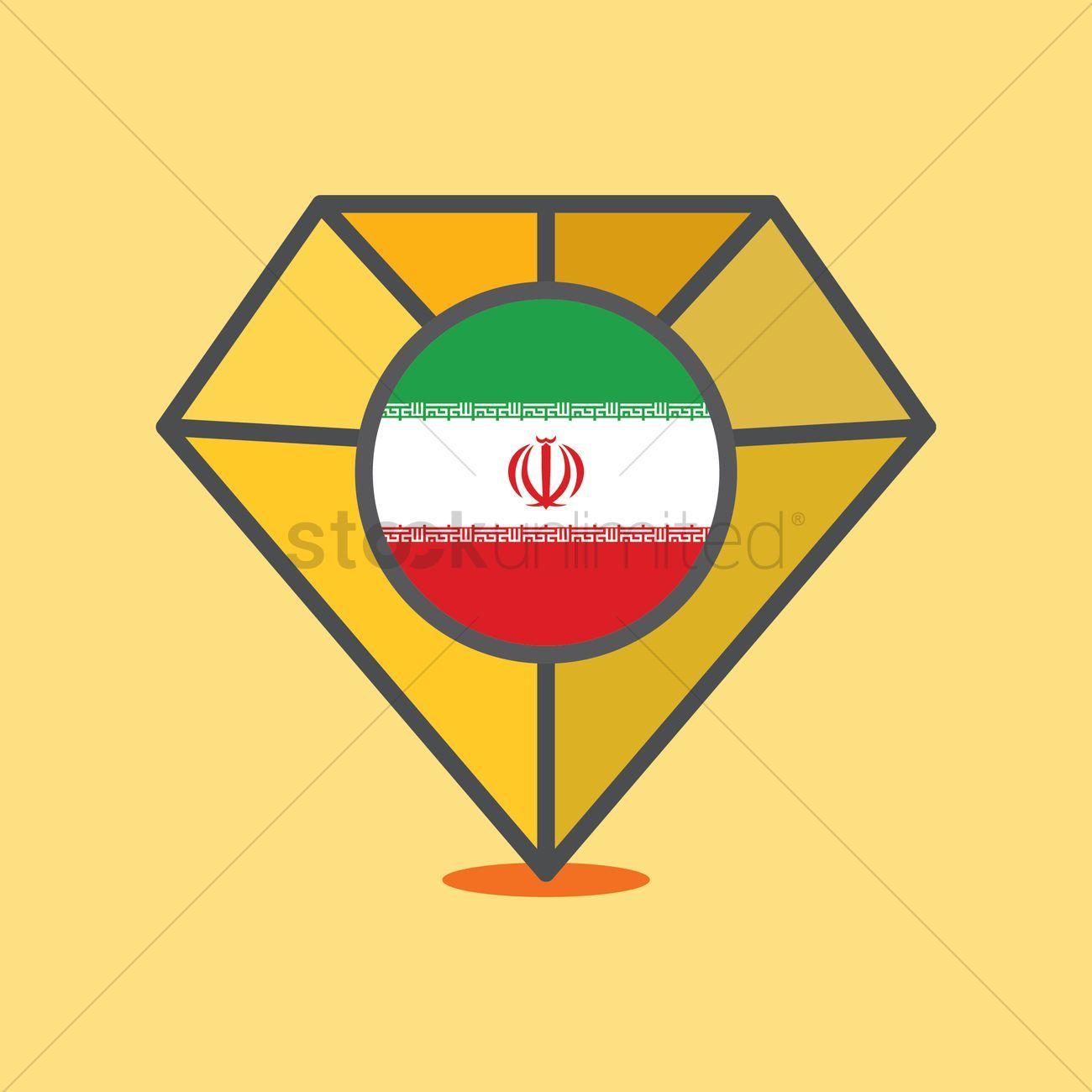 Iran flag on diamond stock vector , #affiliate, #flag, #Iran, #diamond, #vector, #stock #affiliate