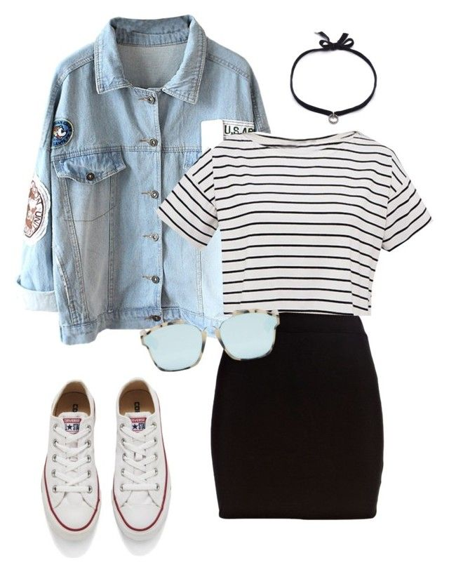"""Untitled #253"" by n23da ❤ liked on Polyvore featuring River Island, Converse, Christian Dior and DANNIJO"
