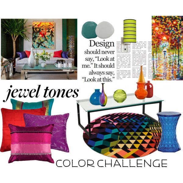 jewel tone home decor   home decor collage from August 2013