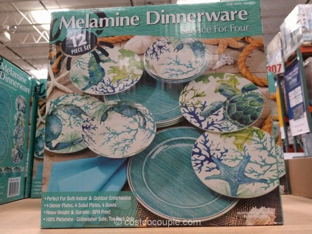 First Design Global Sea Life Melamine Dinnerware Set Costco & First Design Global Sea Life Melamine Dinnerware Set Costco | HOME ...