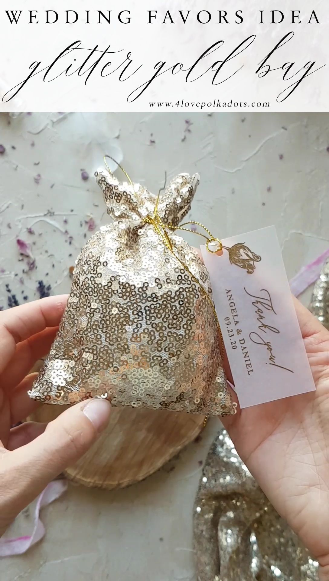 Wedding Favors Idea Glitter Bags Perfect For Little Gift