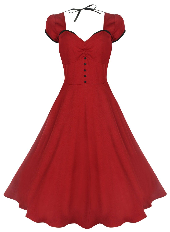 Womens Myrtle Red Dress Lindy Bop Geniue Stockist Cheap Online rON5zDpg8U
