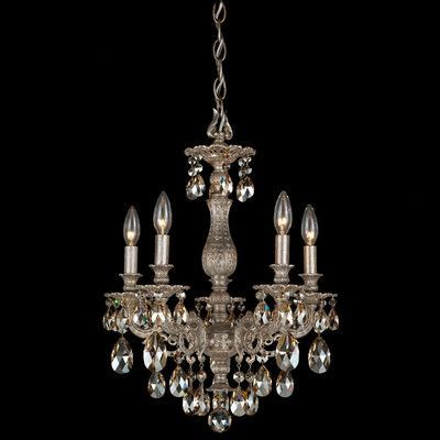 Schonbek milano 5 light crystal chandelier finish roman silver schonbek milano 5 light crystal chandelier finish roman silver crystal color strass golden mozeypictures Gallery