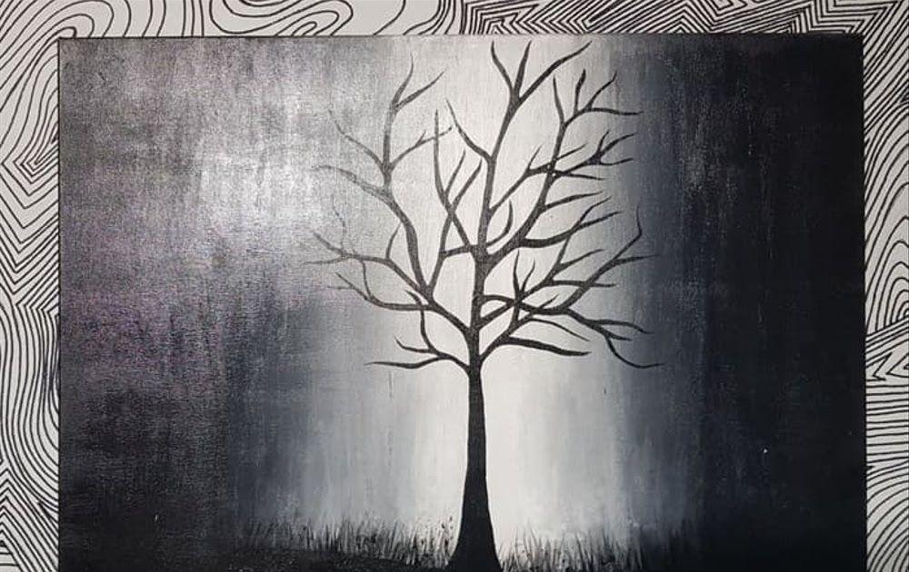 Lukisan Abstrak Hitam Putih Keren Cikimm Com Download