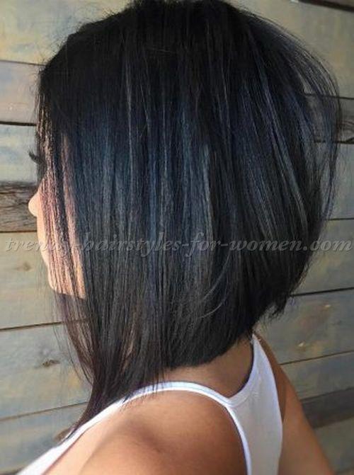 Dark Brown Medium Hairstyles With Bangs Thick Hair Styles Hair Styles Medium Hair Styles