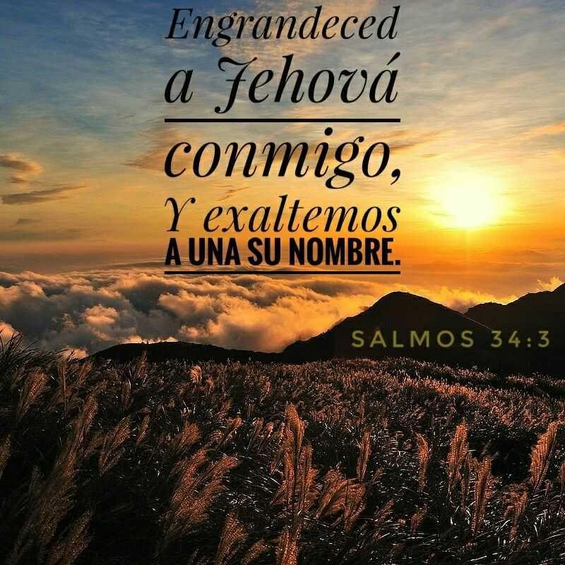 Versiculos De La Biblia De Animo: UNIDAD EN LA ADORACIÓN - SALMOS 34:3