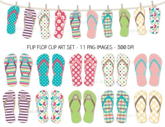 graphic regarding Flip Flop Printable called Turn Flop Clip Artwork Fixed - vibrant summer months printable electronic