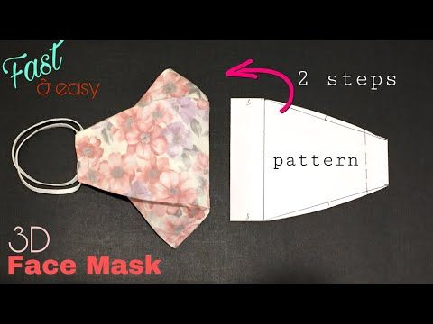 Make a mask suitable for using glasses / Face mask sewing tutorial / Face mask DIY at home