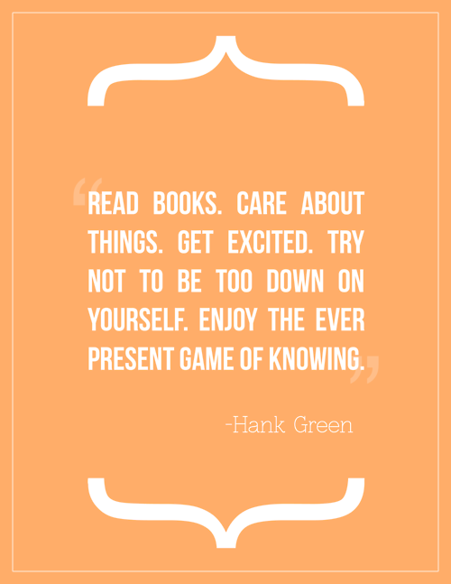Hank Green nicely put