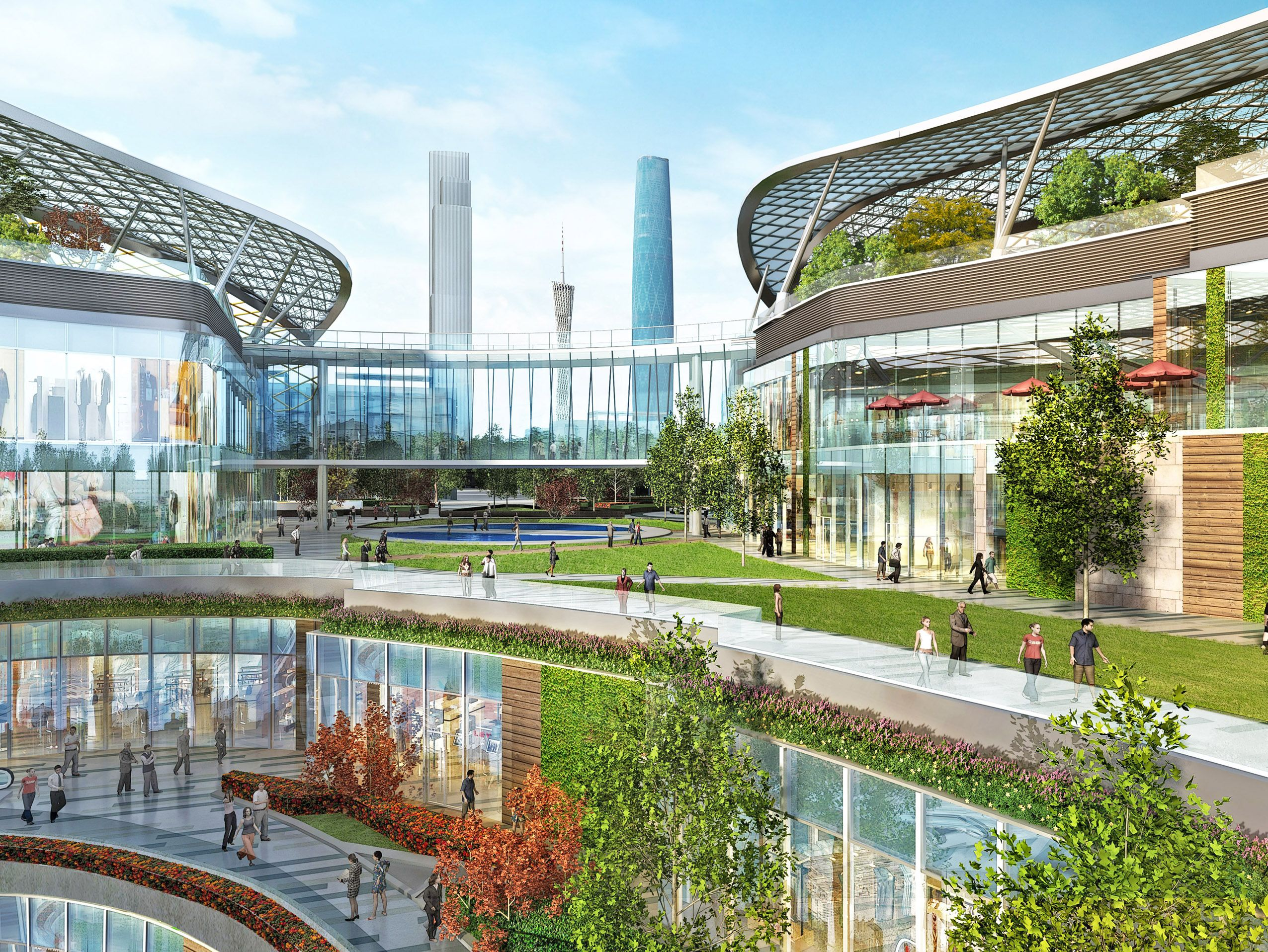 Parc central guangzhou china shopping mall benoy for Landscape design center