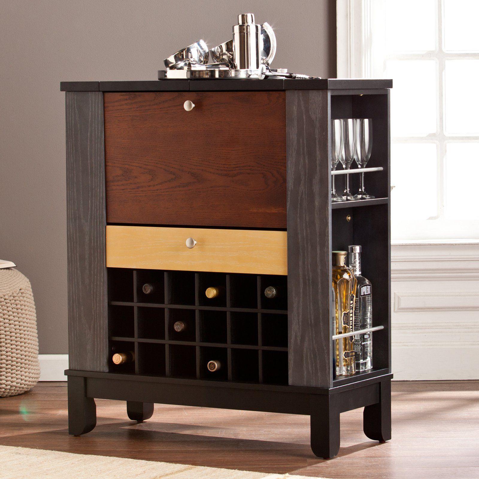 Southern Enterprises Warren Wine/Bar Cabinet | from hayneedle.com