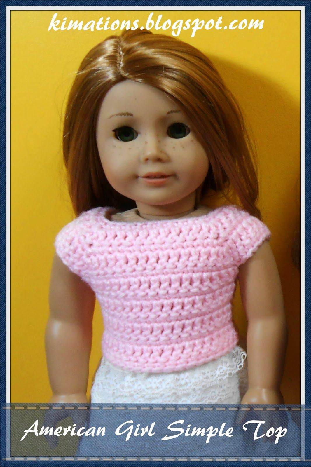Free crochet pattern for 18 inch doll. Kimations: American Girl ...