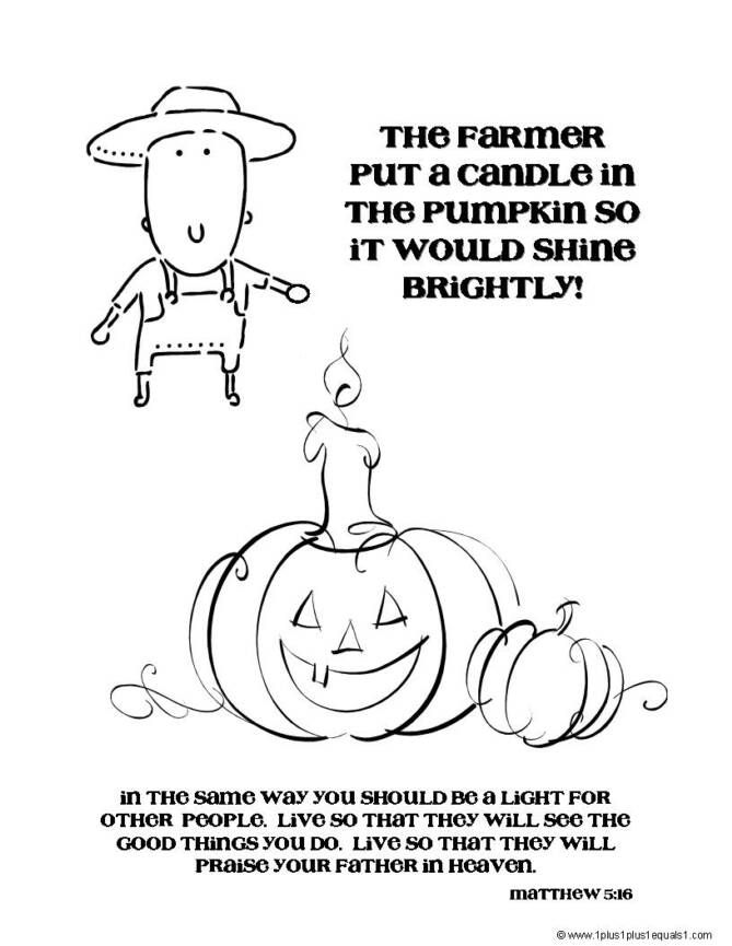 The Pumpkin Patch Parable Coloring Book From 1 1 1 1 Fall Coloring Pages Jesus Shine In Me Page