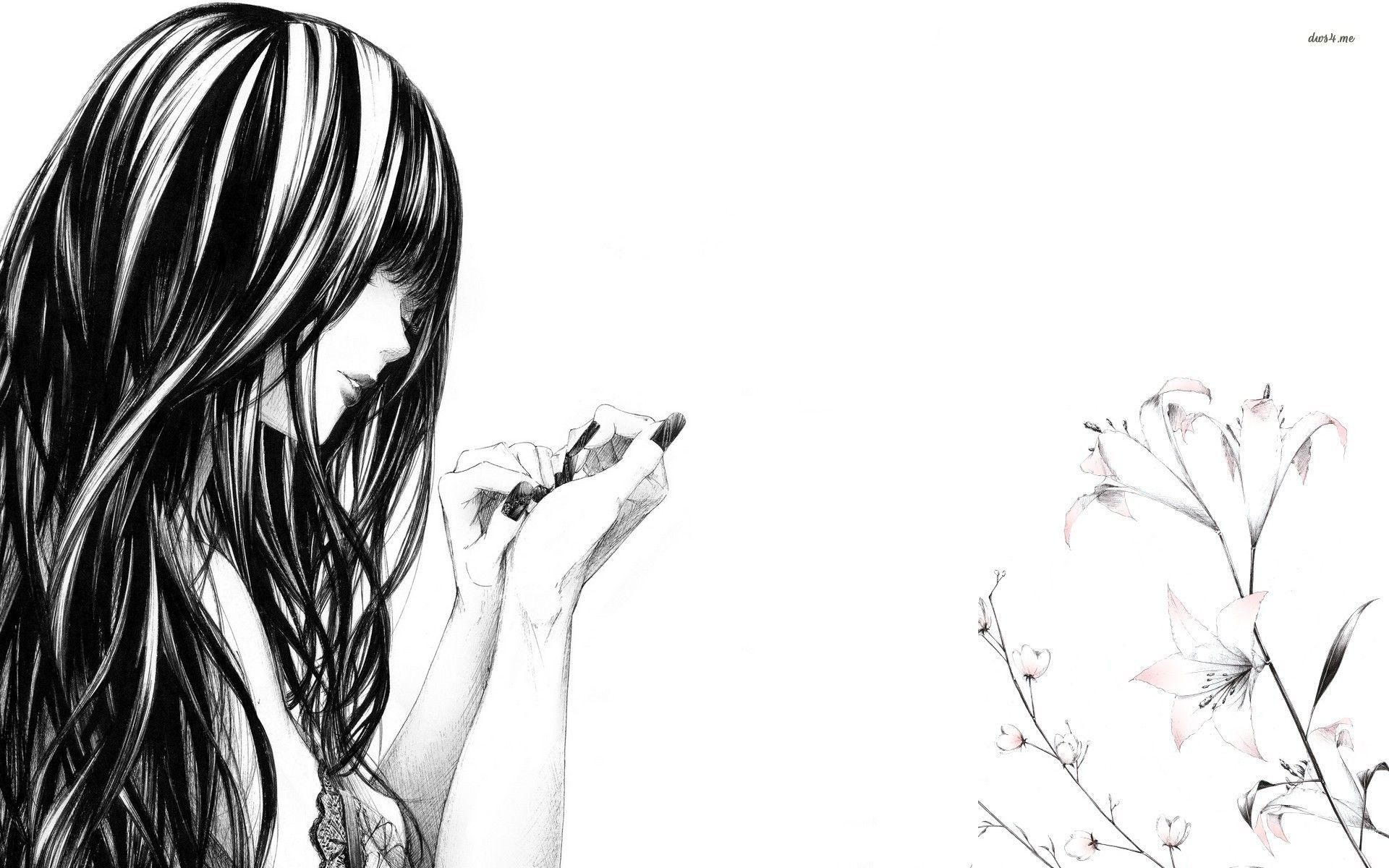 Drawing of a woman wallpaper | Photography + Art + Design ...