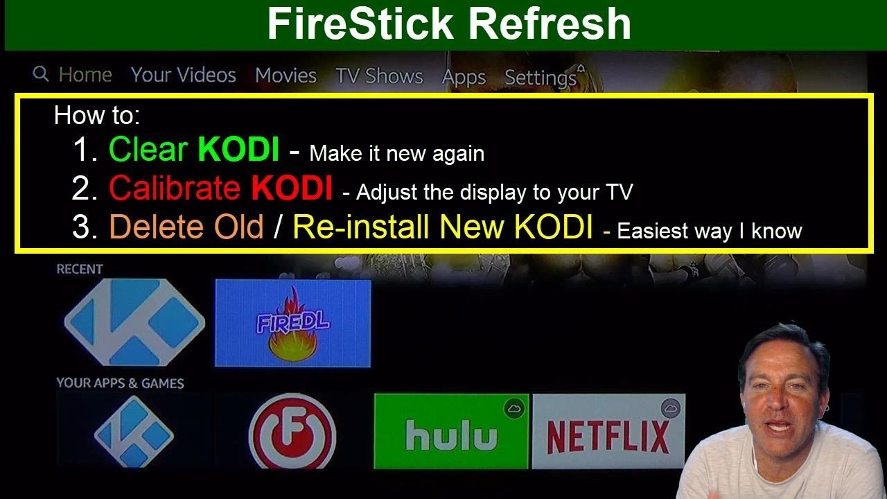 Firestick refresh how to clear kodi install and