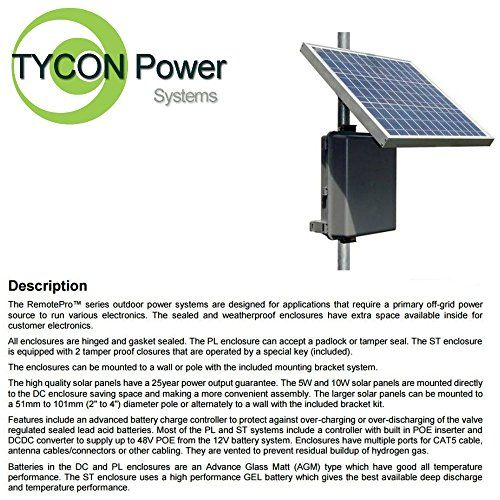 Tycon Systems Rppl12243630 Remotepro 8w Continuous Remote Power System 24v Poe Voltage Read More At The Im Solar Panels For Home Home Decor Weatherproofing