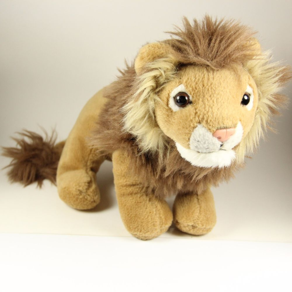 Details About Lion Plush Toy Stuffed Animal 7 Brown W Mane Lion