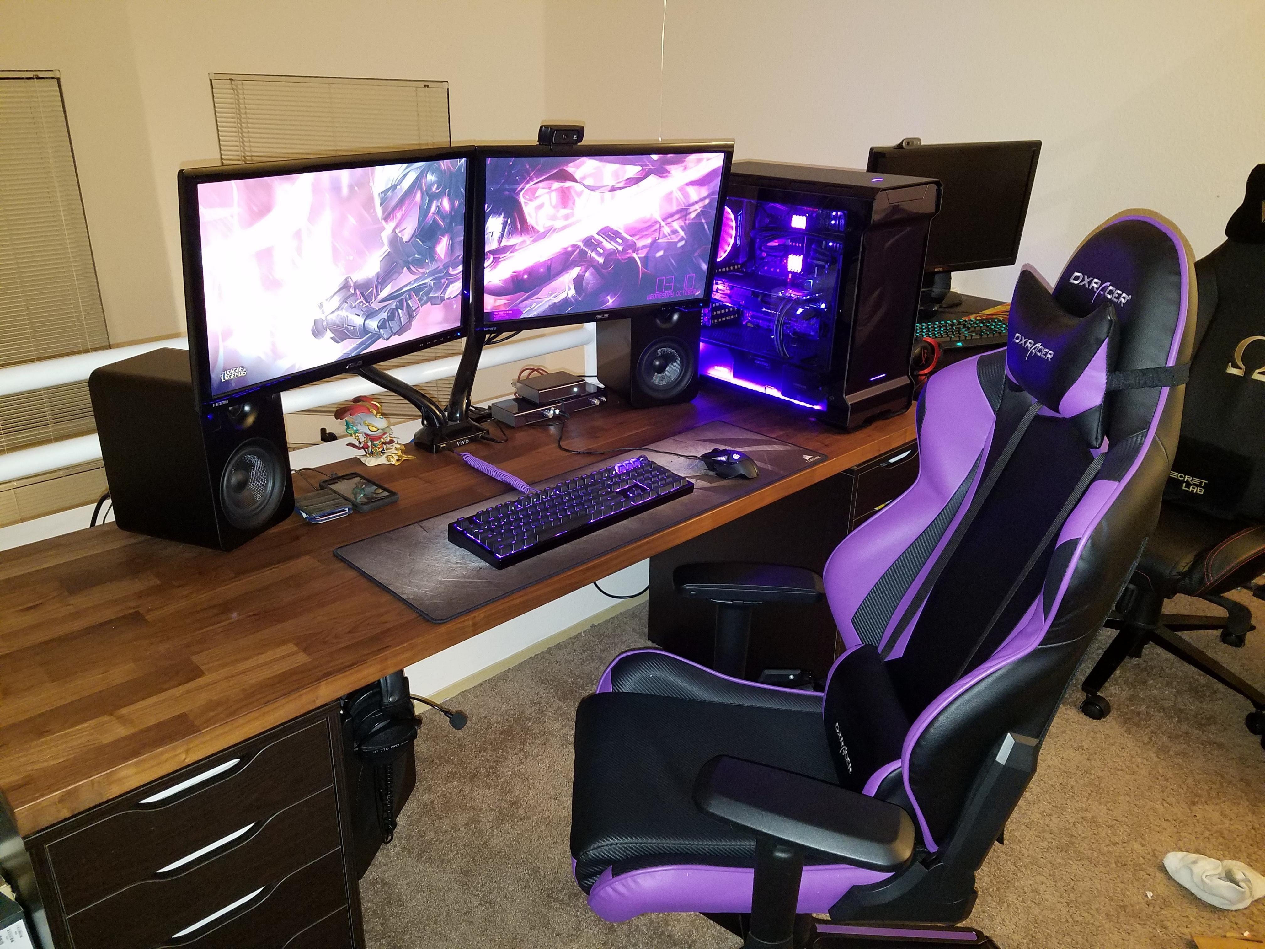 Cool I Like Purple In 2019 Gaming Room Setup Game Room Design Evergreenethics Interior Chair Design Evergreenethicsorg