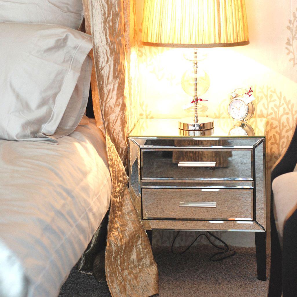 Schön Elegantes Verspiegeltes Nachtkästchen Pure Velvet Interior Möbel Online