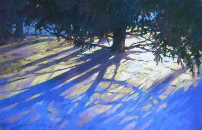 Winter Blues pastel painting by Jill Stefani Wagner