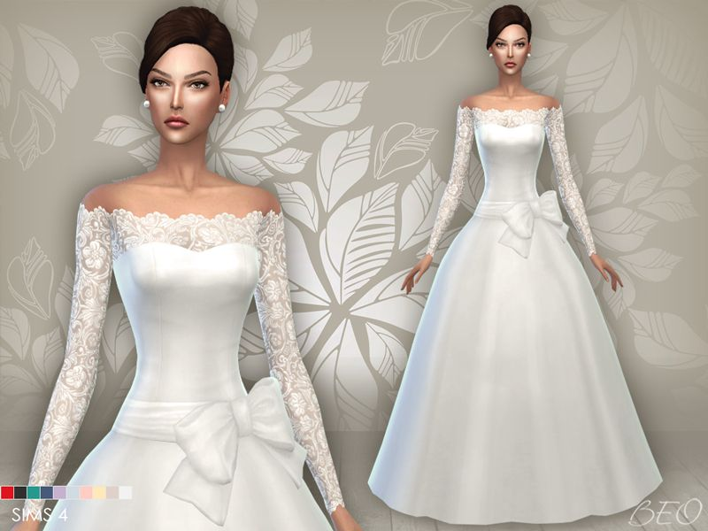 Sims 4 Wedding Dress.Wedding Dress 05 For The Sims 4 By Beo Sims 4 Download