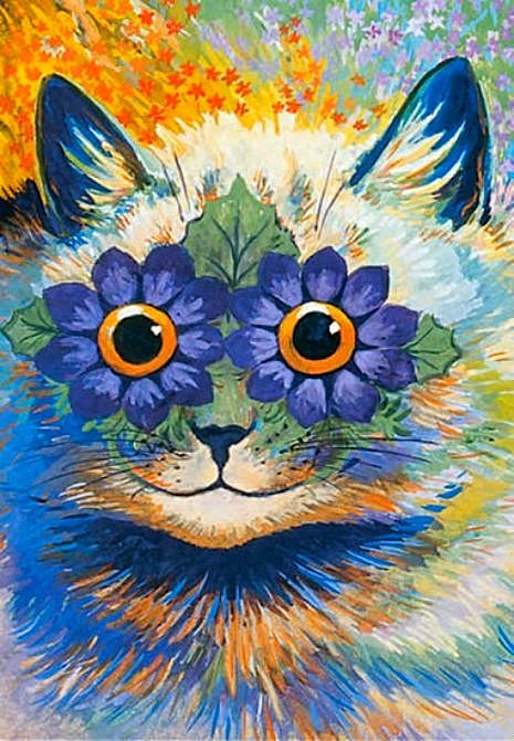 The psychedelic madness of Louis Wain's cats from Dangerousminds.net