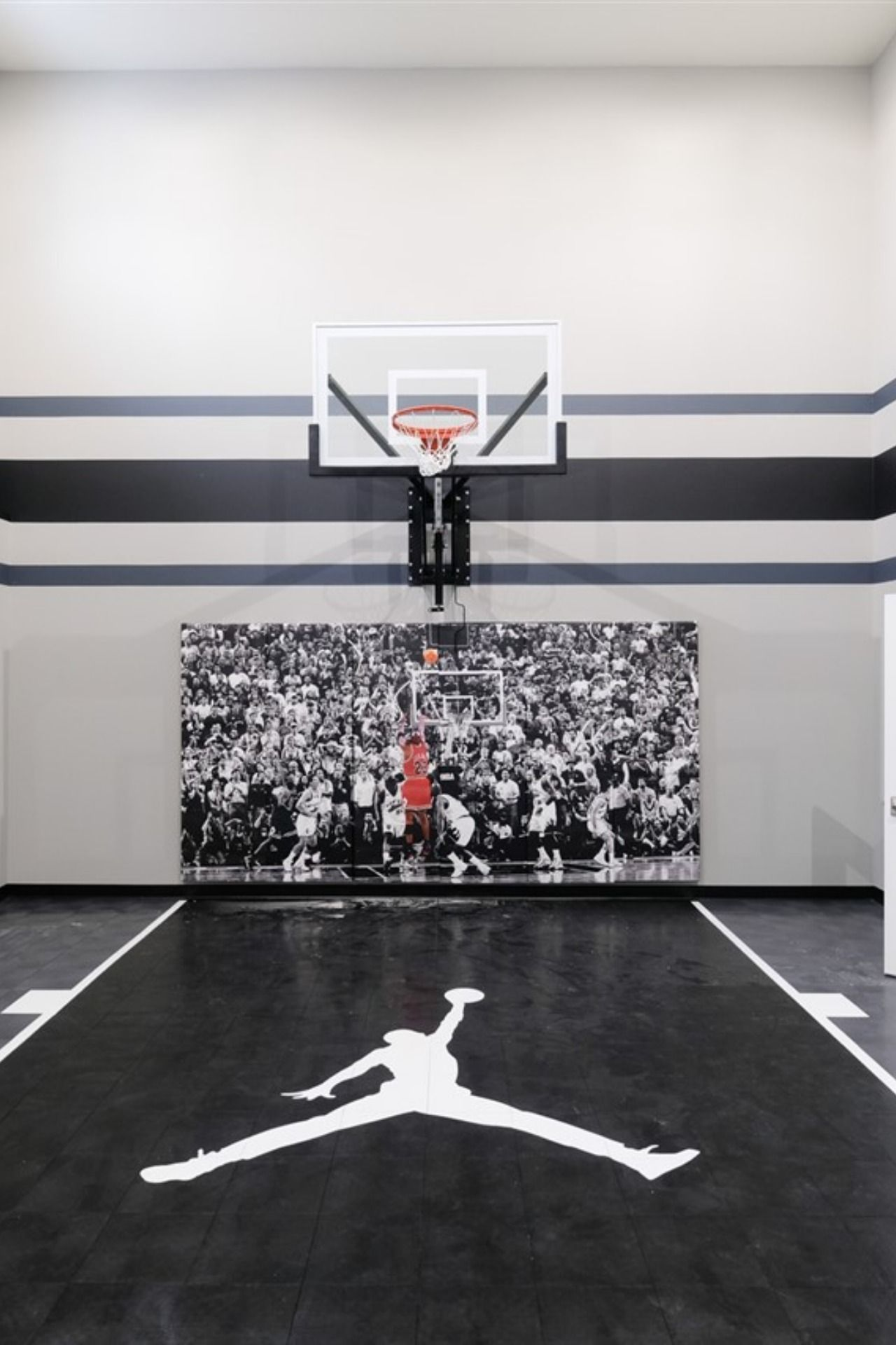Basketball Wall Safety Pads Home Basketball Court Basketball Court Backyard Dream Home Design