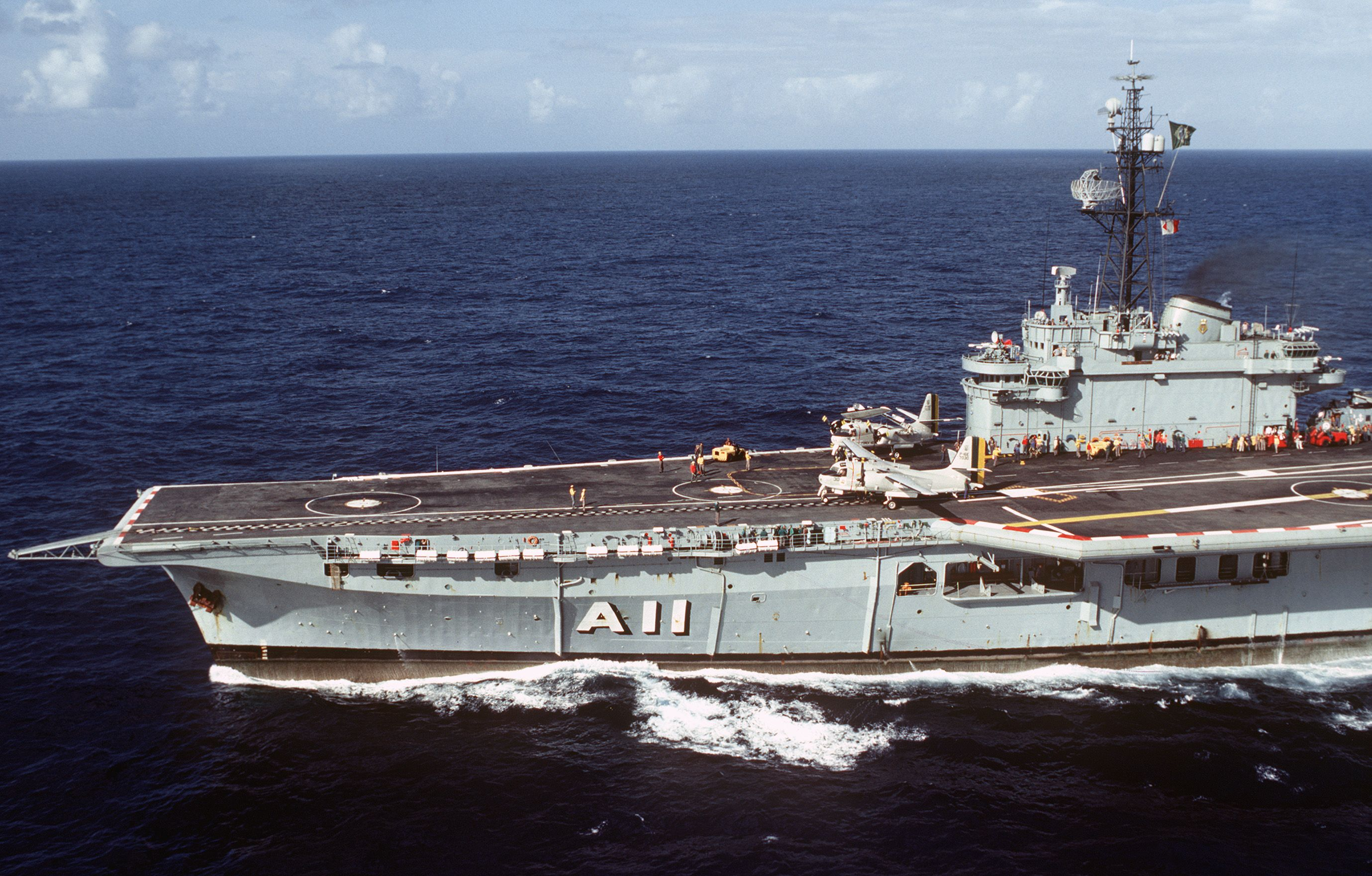 The Brazilian Colossus-class carrier Minas Gerais in 1984 ...Spanish Aircraft Carrier Prince Of Asturias