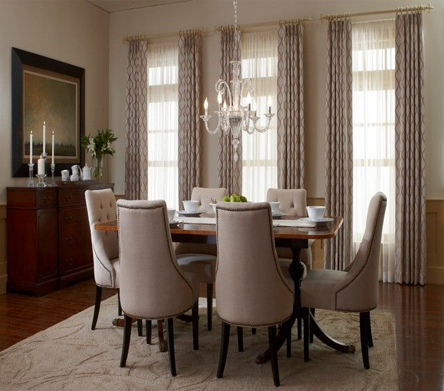 Window Treatments For A Living Room Dining Room Modern Interior Design Ideas Dining Room Windows Dining Room Window Treatments Traditional Dining Rooms