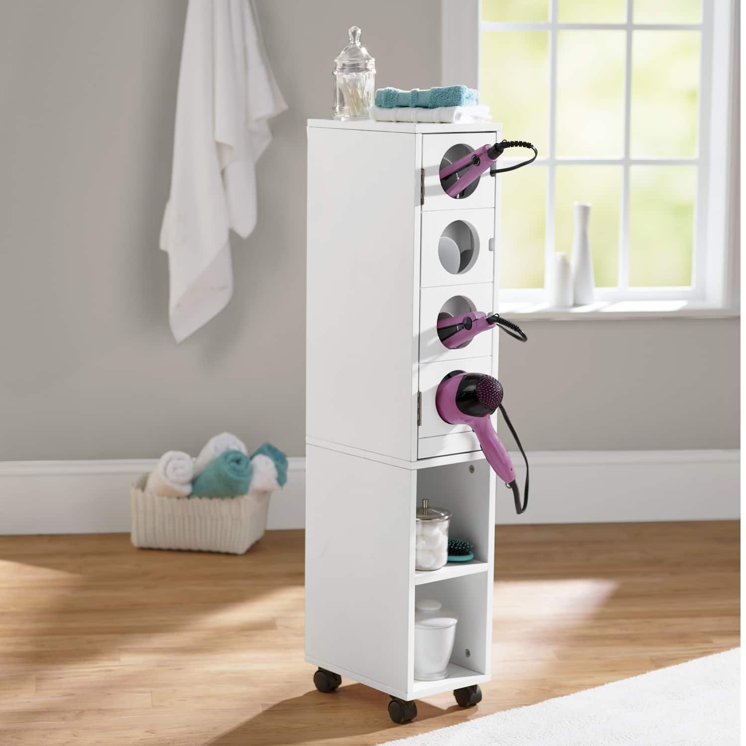Powered Bathroom Rolling Cart | Montgomery Ward | Rolling ...