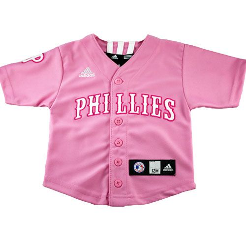 Adidas Pink Philadelphia Phillies Infant Jersey  Philadelphia  Phillies   Baby  Toddler  Jersey  babyfans ae01254b434