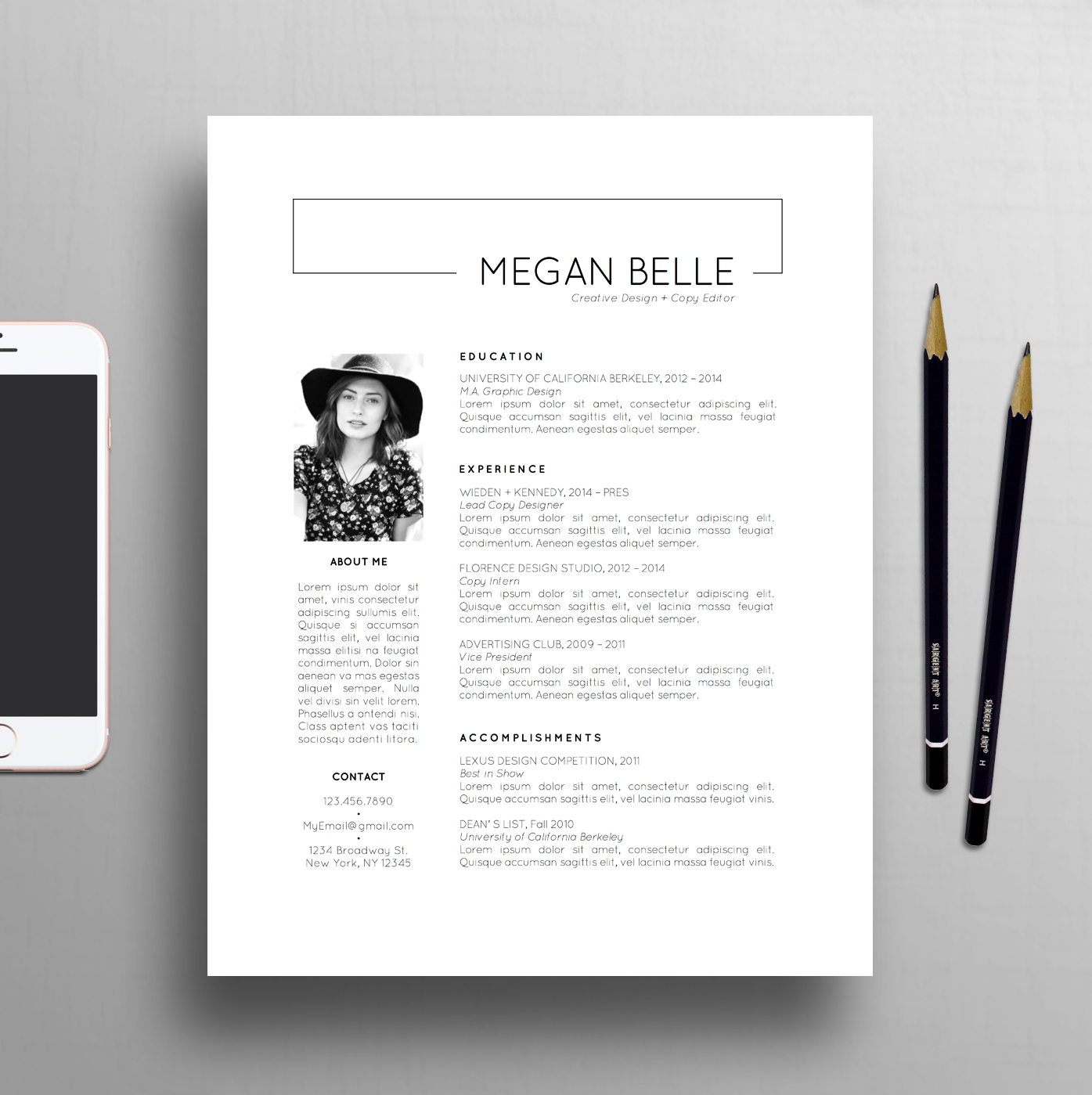 Modern Resume Template  Page Resume  Creative Cover Letter