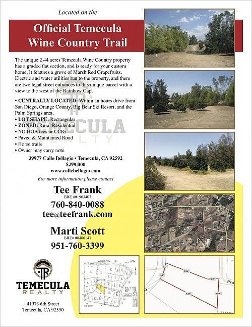 $299,000 -  39977 Calle Bellagio Temecula, CA 92592