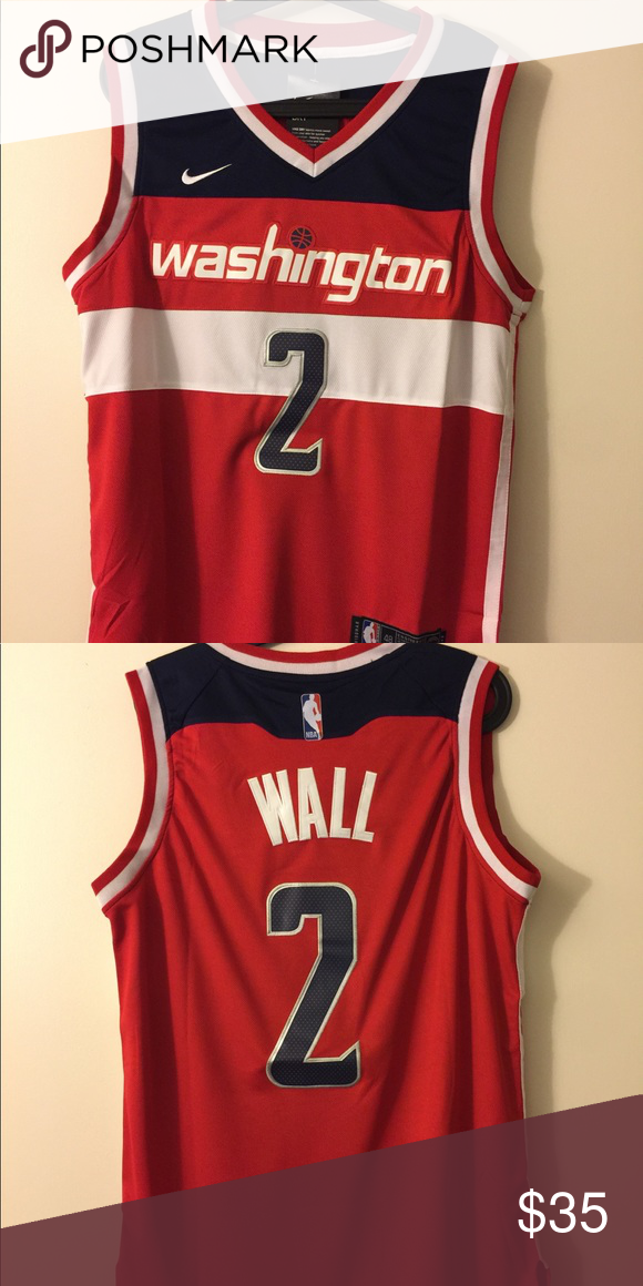 John Wall 2 Washington Wizards Jersey Brand New With Tag All The Numbers And Letters Are Stitched Nike S Clothes Design Nike Shirts Washington Wizards Jersey