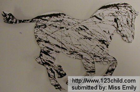 Marble painted zebra (Z=zebra)    (http://www.123child.com/UBB/showthread.php?3985-Zoo-Animals-preschool-lesson-plans)